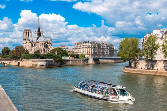 Boat trip on river Seine