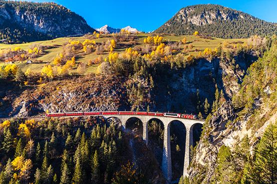 Rhaetian Railways Landwasser Viaduct