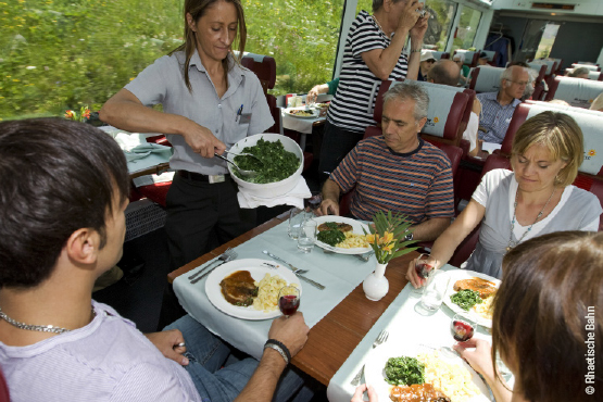 Food in the Glacier Express