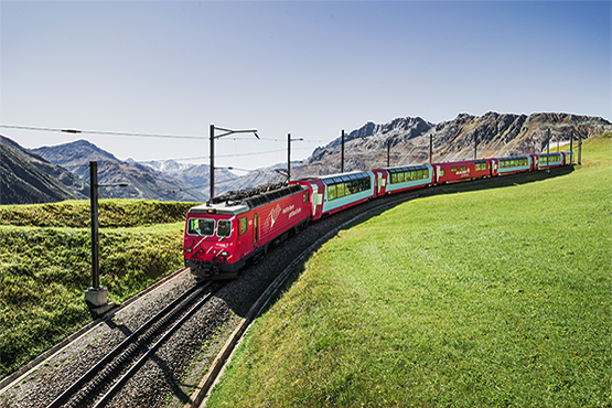 The slowest express train in the world, the Glacier Express, book now online!