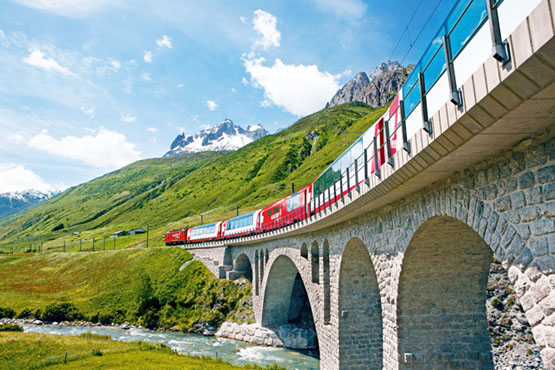 Golden Pass Line – Jungfraujoch – Top of Europe – Glacier Express – Bernina Express