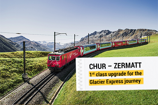 Rail journey from every train station within Switzerland, accommodation with breakfast in Zermatt