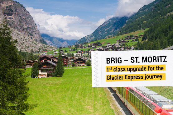Rail journey from every train station within Switzerland, accommodation with breakfast in Zermatt
